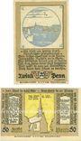 Banknotes Kellinghusen. Stadt. Billets. 20 pf, 50 pf 6.8.1920
