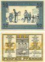 Banknotes Kellinghusen. Stadt. Billets. 50 pf (2ex) avril 1921