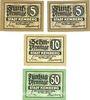 Banknotes Kemberg. Stadt. Billets. 50 pf série D et E, 10 pf série E, 50 pf série D