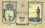 Banknotes Kempen (Kepno, Pologne). Stadt. Billet. 50 pf 1.9.1918