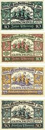 Banknotes Kindelbrück. Stadt. Billets. 10 pf (2ex), 25 pf, 50 pf