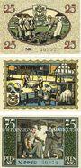 Banknotes Kirchhain N. L.. Stadt. Série de 3 billets. 25 pf, 50 pf, 75 pf 1.8.1921