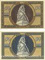 Banknotes Kissingen. Stadt. Billets. 50 pf 1919, 50 pf 1920. Originaux