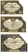 Banknotes Kitzingen. Distriktsgemeinde. Dettelbach, Marktbreit. Billets. 5, 20, 50 mark 9.11.1918