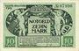 Banknotes Kitzingen. Stadt. Billet. 10 mark 8.11.1918
