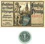 Banknotes Kitzingen. Stadt. Billet. 50 pf n.d.-fin août 1920. Valeur à l'avers et au revers, 1 pf n.d. (1920)