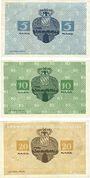 Banknotes Kitzingen. Stadt. Billets. 5 mark, 10 mark 8.11.1918