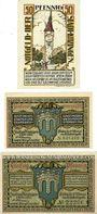Banknotes Kitzingen. Stadt. Billets. 50 pf 1921, 25 pf, 50 pf 1.2.1921