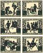 Banknotes Kitzingen. Stadt. Série de 6 billets. 50 pf 1.3.1921