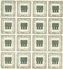 Banknotes Kitzingen, Städtische Sparkasse, bloc de 2 séries de 8 billets, 1 pf 1920, type sans filigrane