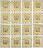 Banknotes Kitzingen, Städtische Sparkasse, bloc de 2 séries de 8 billets, 2 pf 1920, type sans filigrane
