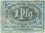Banknotes Kleschkau (Kleszczewo, Pologne). Milch - Verwertungsgenossenschaft m.b.H. Billet. 1 pf