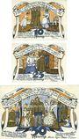 Banknotes Klütz. Gemeinde. Série de 3 billets. 10 pf, 25 pf, 50 pf (1922). Reutergeld