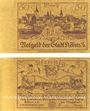 Banknotes Köben (Chobienia, Pologne). Stadt. Billet. 50 pf 24.12.1920. Impressions unifaces. Inédit !
