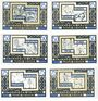 Banknotes Kölln-Reisiek. Gemeinde. Série de 6 billets. 25 pf (2ex), 50 pf (2ex), 75 pf (2ex) (1921)-31.12.1921