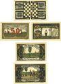 Banknotes Königsaue. Gemeinde. Billets. 40 (4x10), 50 (2x25), 50, 75, 100 pfennig