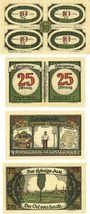 Banknotes Königsaue. Gemeinde. Billets. 40 (4x10), 50 (2x25), 50, 75 pfennig