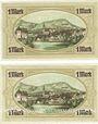Banknotes Königsberg in Franken. Stadt. Billet. 1 mark novembre 1918 (2ex)
