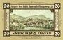 Banknotes Königsberg in Franken. Stadt. Billet. 20 mark novembre 1918