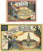 Banknotes Königsee. Stadt. Billets. 10 pf, 50 pf 1.1.1921