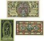 Banknotes Königshofen im Grabfeld. Stadt. Billets. 50 pf 1.5.1919, 20 pf 1.4.1921, 30 pf 1.4.1921