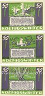 Banknotes Königswinter. Königswinterer Bank und Honnefer Volksbank. Billets. 50 pf 1.11.1921 (3 ex)