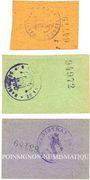 Banknotes Konstadt (Wolczyn, Pologne). Stadt. Billets. 25 pf 15.6.1919, 10 pf, 25 pf 22.7.1920