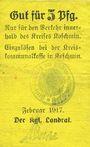 Banknotes Koschmin (Kozmin, Pologne). Kreis. Billet. 5 pf février 1917
