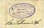 Banknotes Kötzing. Schmidt Karl Brauerei u. Gasthof. Billet. 25 pf 14.5.1921, type avec coins anguleux