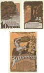 Banknotes Krakow. Stadt. Série de 3 billets. 10 pf, 25 pf, 50 pf n.d. - 31.5.1922
