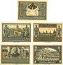 Banknotes Kreuzburg (Kluczbork, Pologne). Stadt. Billets. 25 pf, 50 pf (2ex), 75 pf (2ex) 18.10.1921