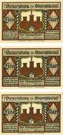 Banknotes Kreuzburg (Kluczbork, Pologne). Stadt. Série de 3 billets. 1 mark (3ex) n.d.