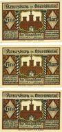 Banknotes Kreuzburg (Kluczbork, Pologne). Stadt. Série de 3 billets; 1 mark (3ex) n.d.