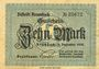 Banknotes Krumbach. Distrikt. Billet. 10 mark 1.12.1918