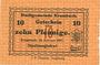 Banknotes Krumbach. Stadt. Billet. 10 pf 15.2.1917
