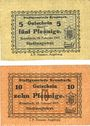 Banknotes Krumbach. Stadt. Billets. 5 pf, 10 pf 15.2.1917