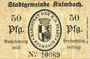 Banknotes Kulmbach. Stadt. Billet. 50 pf 11.10.1918