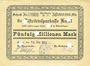 Banknotes Kusel. Stadt. Billet. 50 millions mark 18.9.1923, annulation par perforation