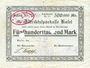 Banknotes Kusel. Stadt. Billet. 500 000 mark 10.8.1923, annulation par perforation
