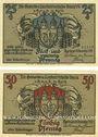 Banknotes Kyritz. Gewerbe- und Landwirtschaftsbank e.G.m.u.H. Billets. 25 pf, 50 pf 31.12.1921