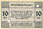 Banknotes Labiau (Polessk, Russie). Kreis. Billet. 10 mark n.d., annulation par perforation