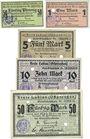 Banknotes Labiau (Polessk, Russie). Kreis. Billets. 50 pf, 1, 5, 10, 50 mark n.d.
