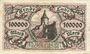 Banknotes Lahr. Stadt. Billet. 100 000 mark 10.8.1923