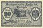 Banknotes Lahr. Stadt. Billet. 20 mark 18.10.1918
