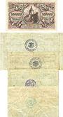 Banknotes Lahr. Stadt. Billets. 100000, 100 millions, 10, 20, 50 milliards mk 1923