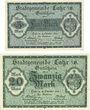 Banknotes Lahr. Stadt. Billets. 5 mark, 20 mark 18.10.1918