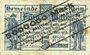 Banknotes Lampertheim a. Rh. Gemeinde. Billet. 5 millions mark 7.9.1923, réimprimé sur 5 mark 1.11.1918