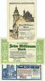 Banknotes Landau. Stadt. Billets. 5, 10, 200 millions mark 1.9.1923