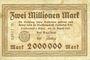 Banknotes Landeshut (Kamienna Gora, Pologne), Stadt, billet, 2 millions mark 23.8.1923