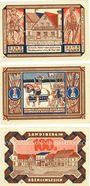 Banknotes Landsberg (Gorzow Slaski, Pologne), Stadt, billets, 100 pf (3ex) 20.3.1921